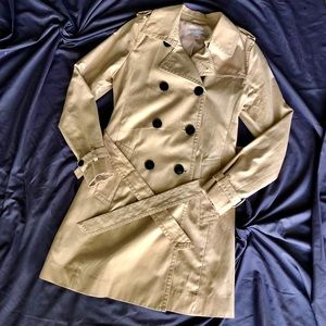 NWOT GAP Beige Military Trench Coat - Size S